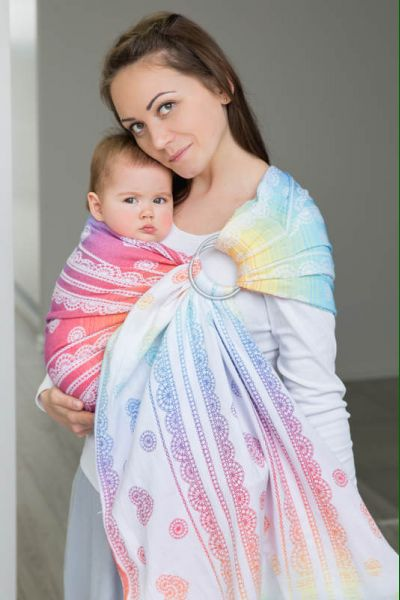 Ring sling Rainbow lace