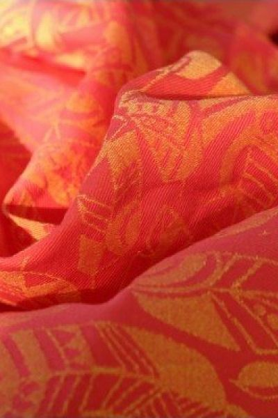 Yaro Four Winds Hot-Coral Yellow Linen