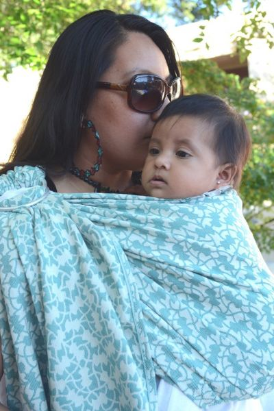 Yaro Ivy Blue Ring Sling
